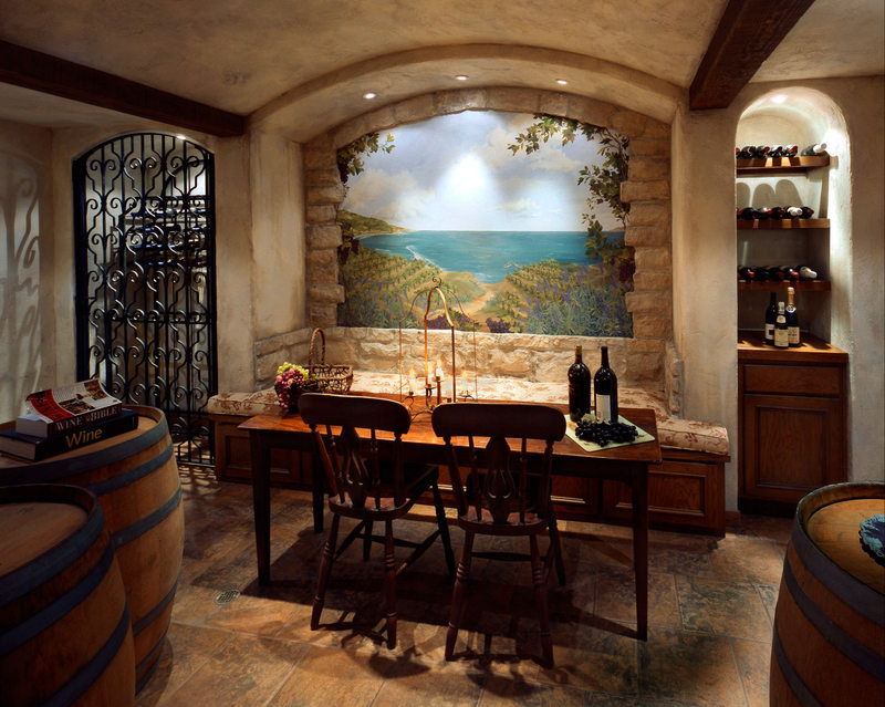 wine cellar in home in Palos Verdes